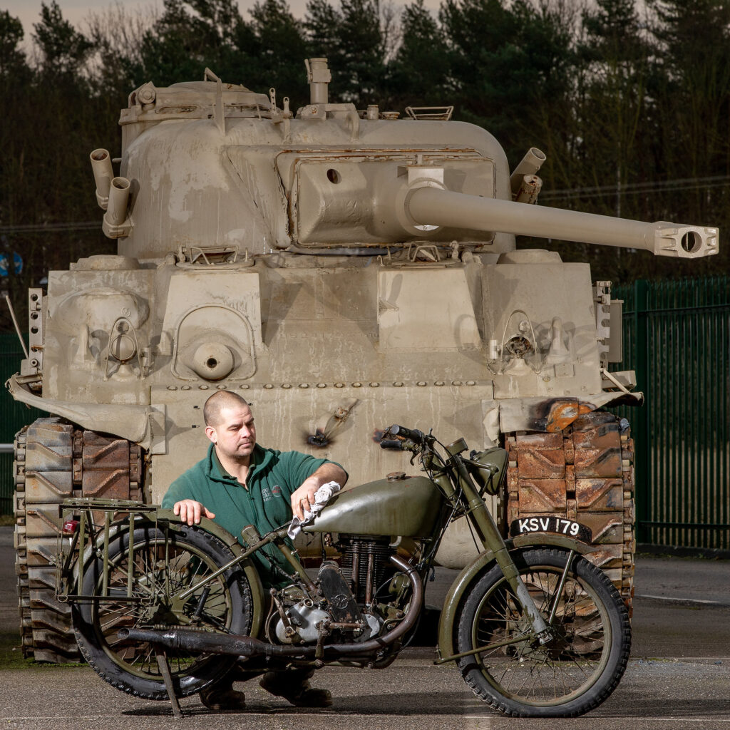 Sherman Tank. Eden Camp, Malton North Yorkshire