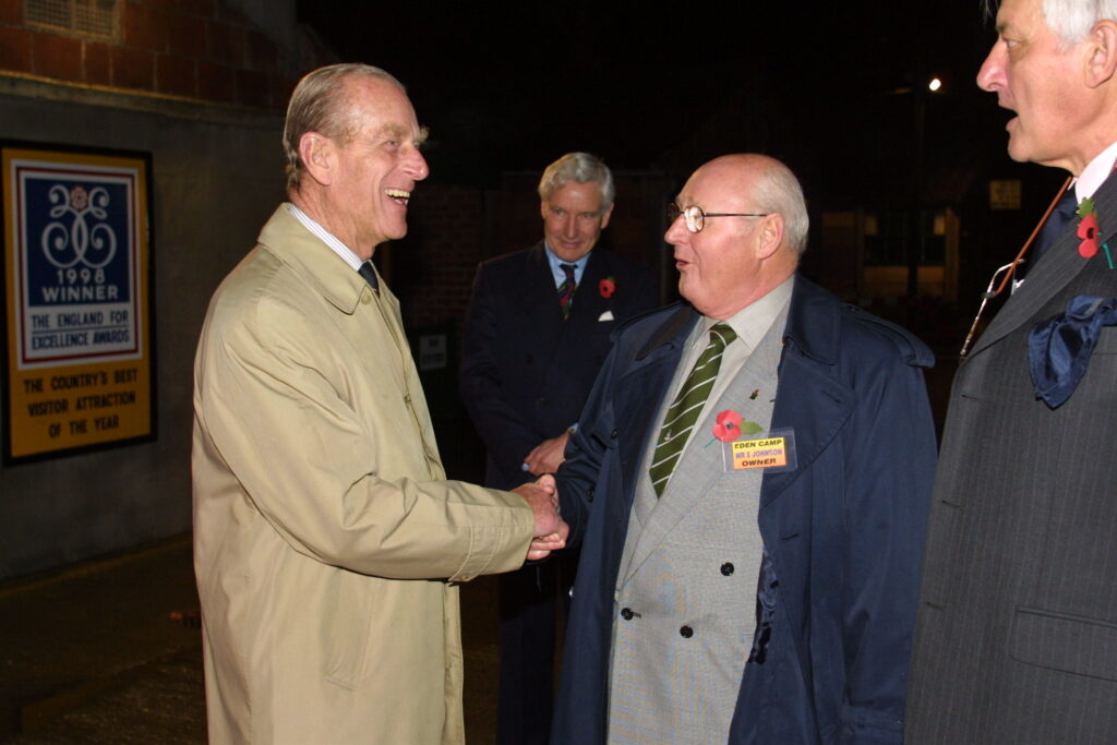 HRH and Stan Johnson