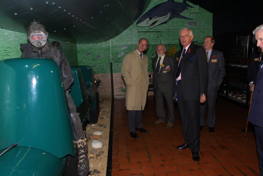 HRH speaking to a Human Torpedo veteran
