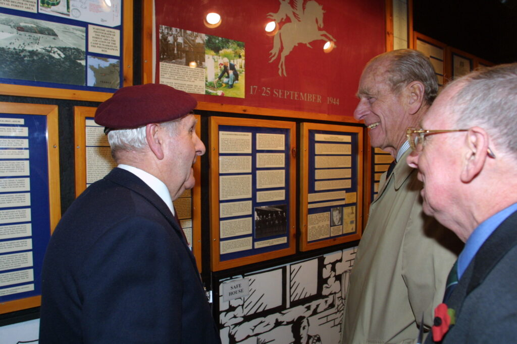 HRH speaks with with Airborne veteran, Eric Mildner
