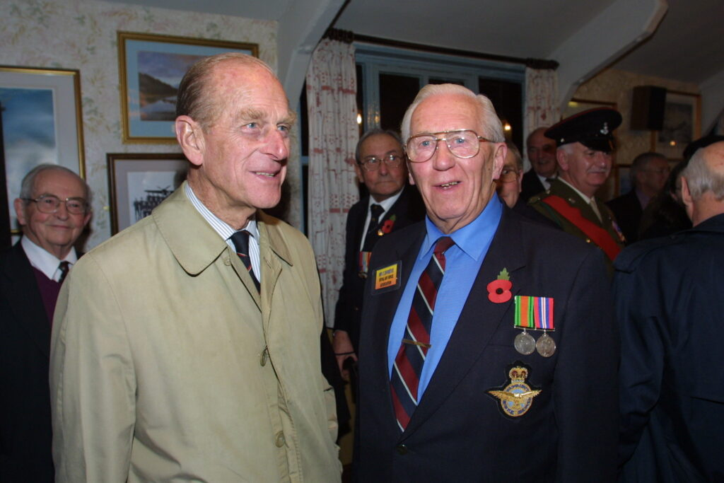 HRH with Cyril Shreeve - RAF veteran from York
